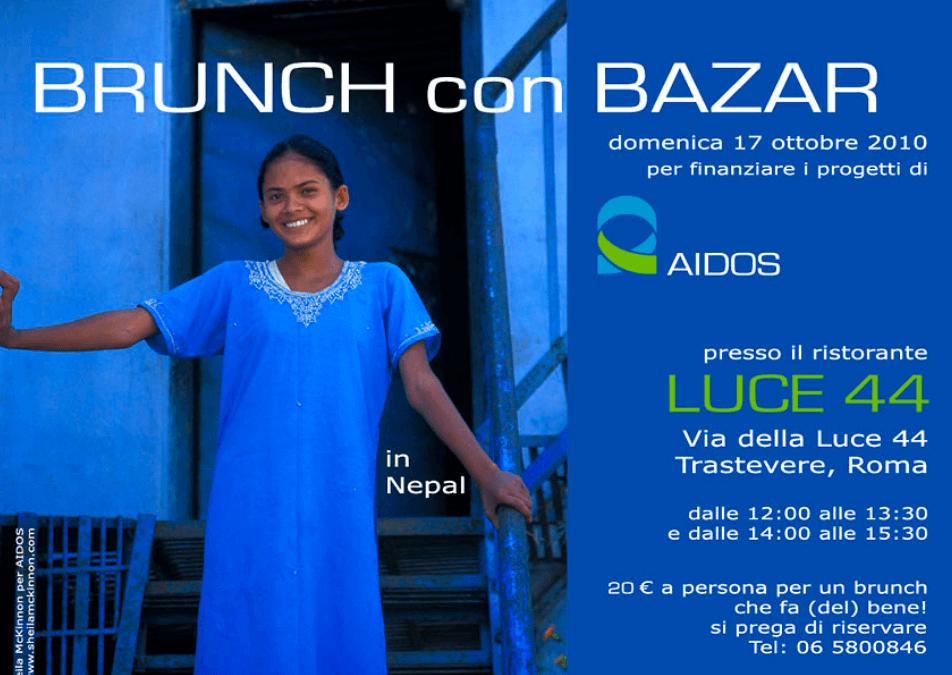 Brunch e Bazar per AIDOS