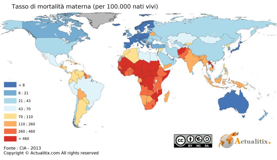 Dimezzato il tasso di mortalità materna negli ultimi vent'anni.