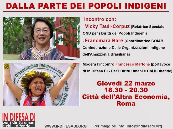 Difensore dei diritti umani dalla parte dei popoli indigeni