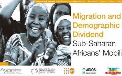 """Seminario Internazionale """"Migration and Demographic Dividend: Sub-Saharan Africans' mobility"""", 23 maggio 2018 – FOTO e RASSEGNA STAMPA"""
