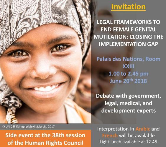 38a Sessione del Consiglio dei Diritti Umani:  un side event e una risoluzione sulle MGF