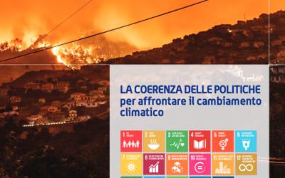 """Rapporto Gcap: """"La coerenza delle politiche per affrontare il cambiamento climatico""""."""