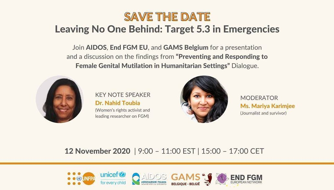 "Webinar on ""Leaving No One Behind: Target 5.3 in Emergencies"""