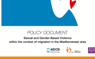 Policy Document. Sexual and Gender-Based Violence within the context of migration in the Mediterranean area