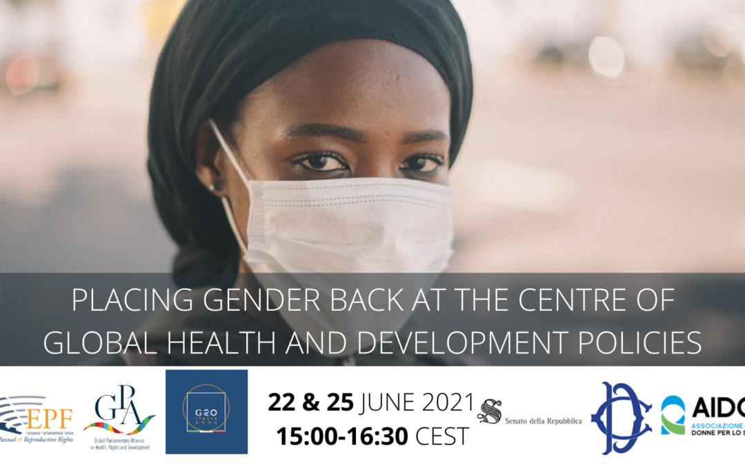 Consultazione parlamentare di alto livello su genere, salute e sviluppo sostenibile