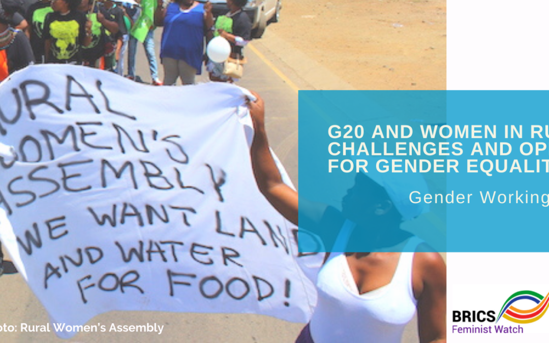 G20 and Women in rural areas: challenges and opportunities for Gender Equality