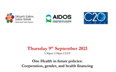 One Health in future policies: Cooperation, gender, and health financing